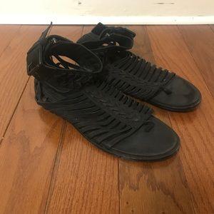 Haider Ackermann black gladiator sandals size 39.5